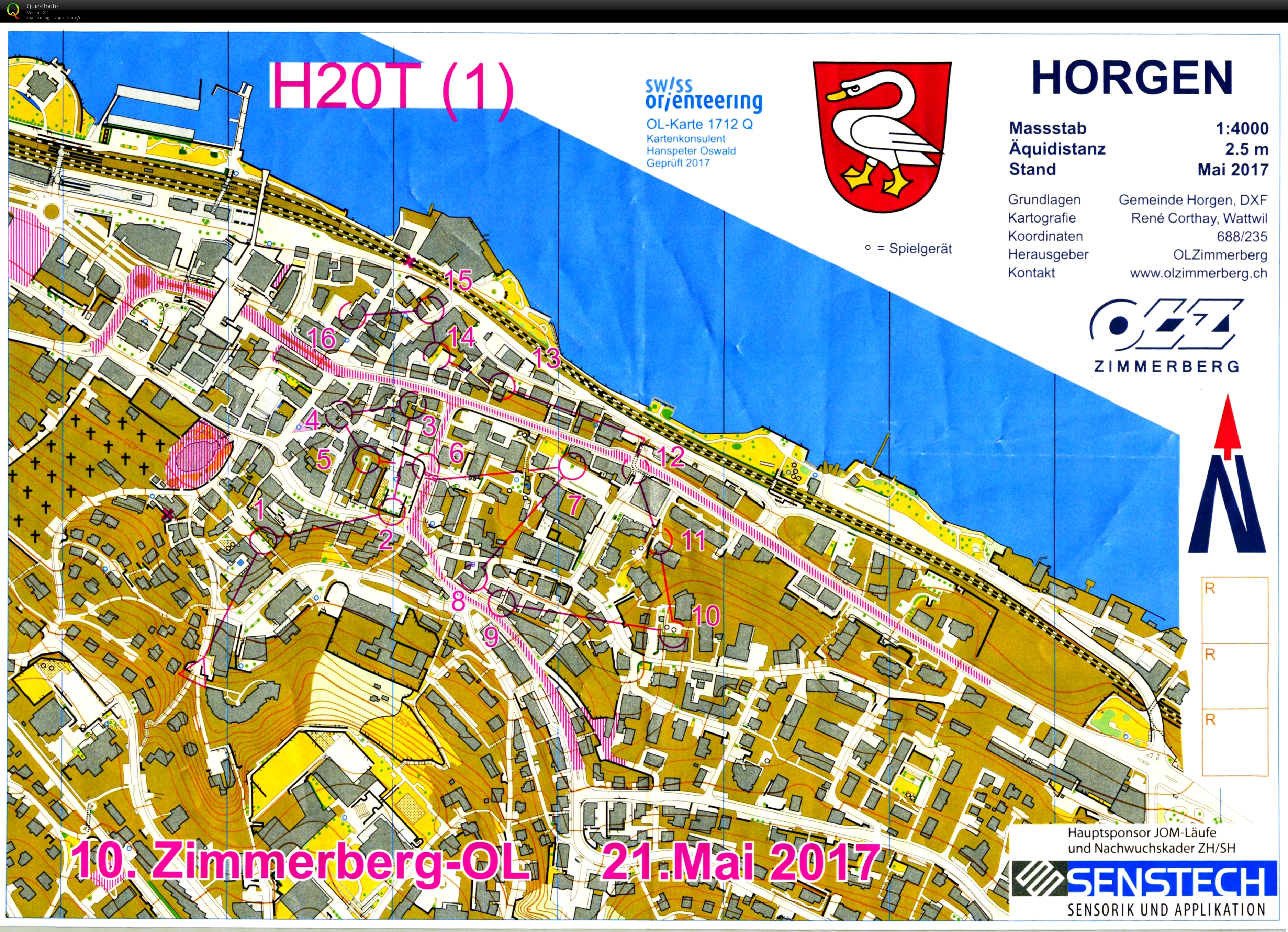 Testlauf JWOC Sprint part1 May 21st 2017 Orienteering Map from