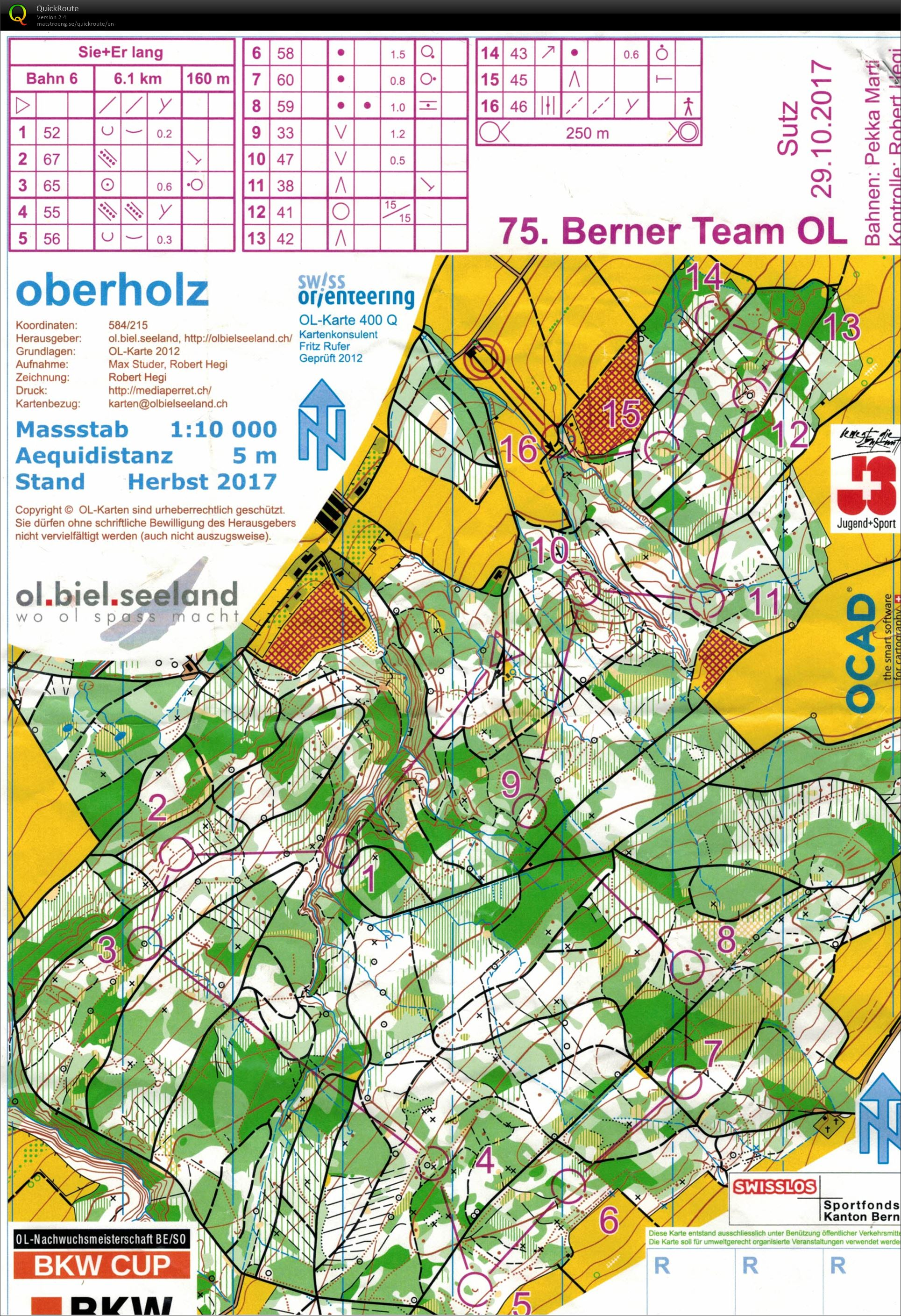 Berner Team-OL - October 29th 2017 - Orienteering Map from Remo Ruch