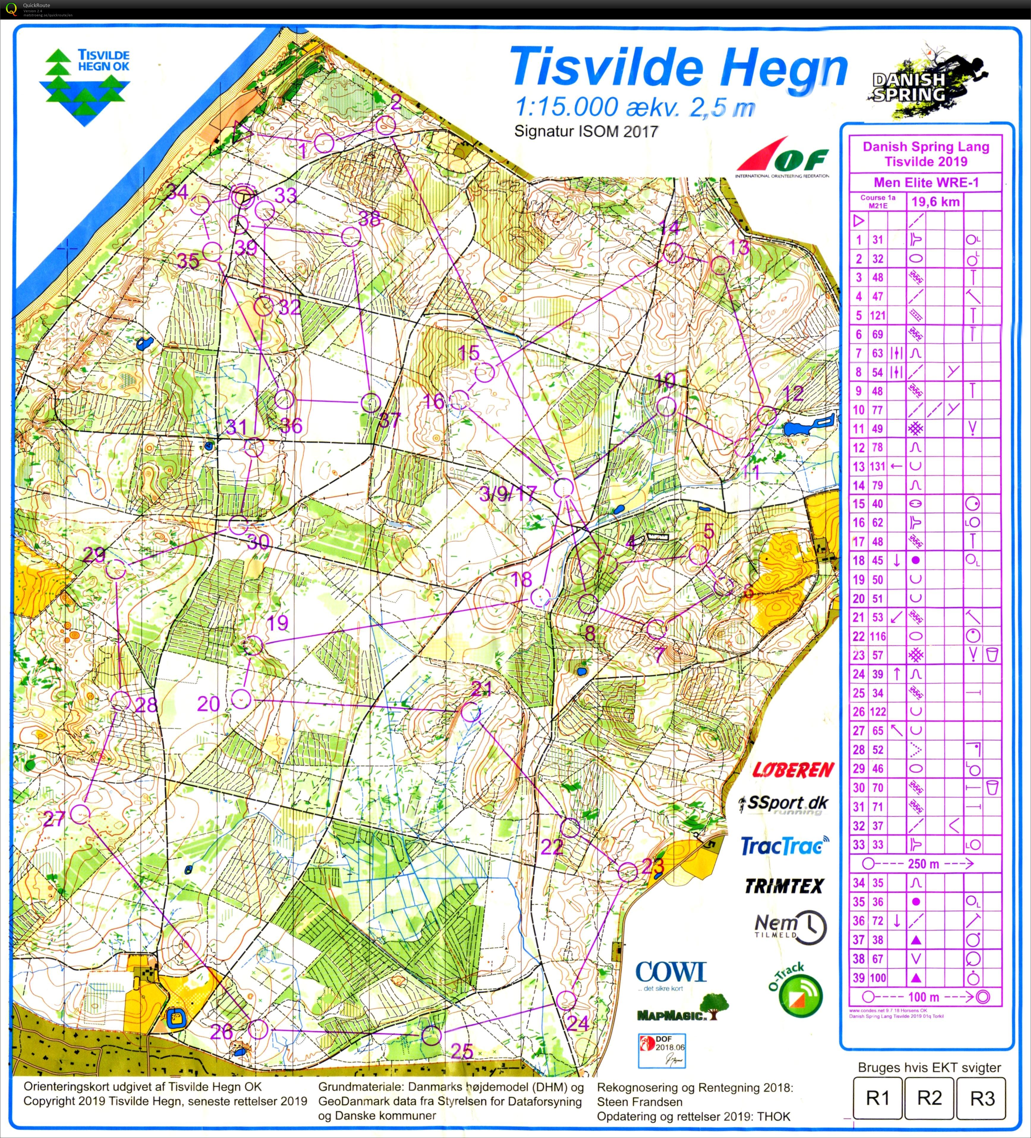 Danish Spring Long April 10th 2019 Orienteering Map From