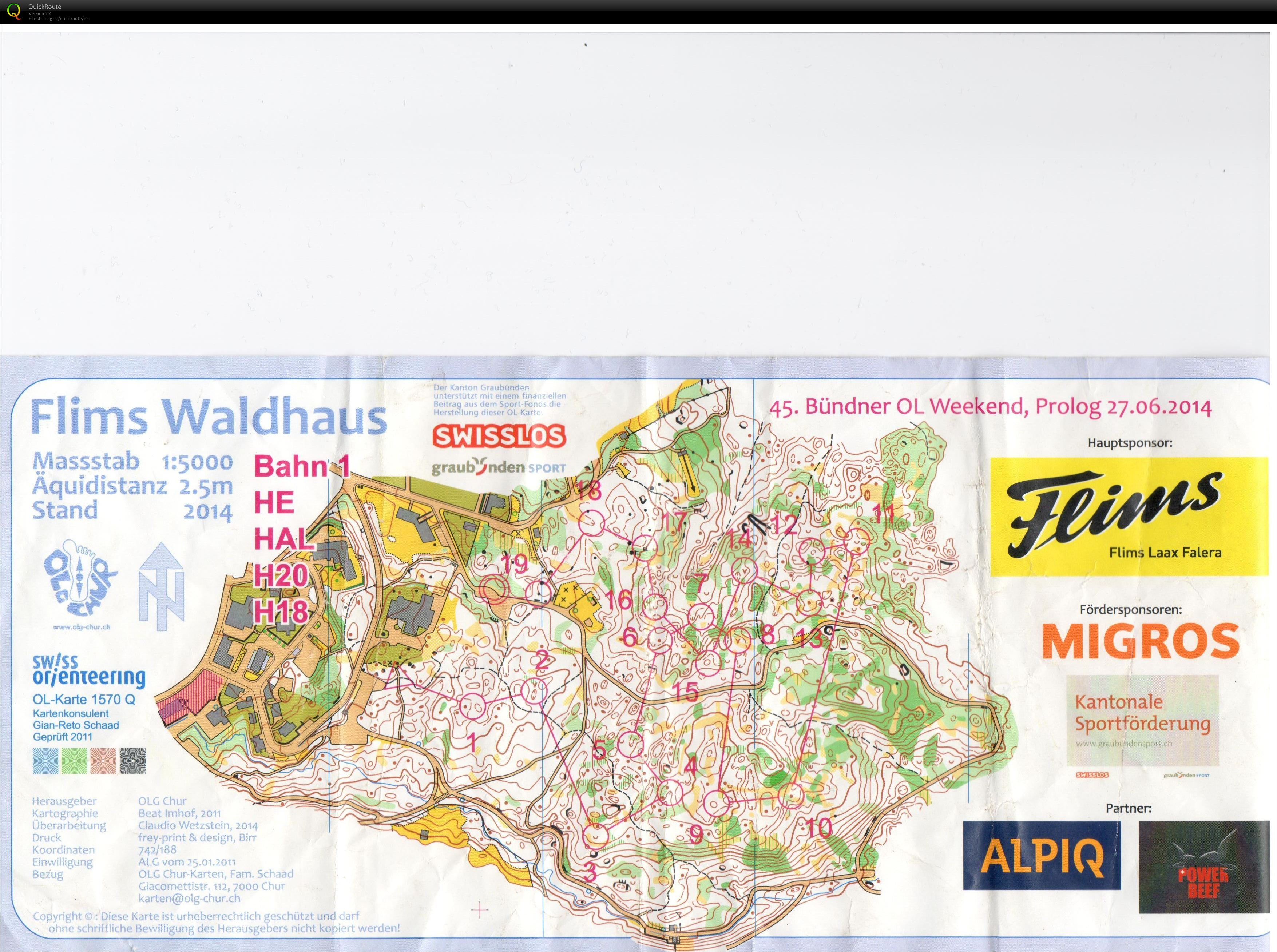 Prolog - June 27th 2014 - Orienteering Map from Térence Risse